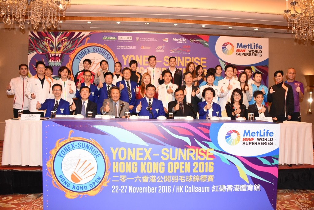 YONEX-SUNRISE Hong Kong Open 2016 part of the MetLife BWF World Superseries - Press Conference