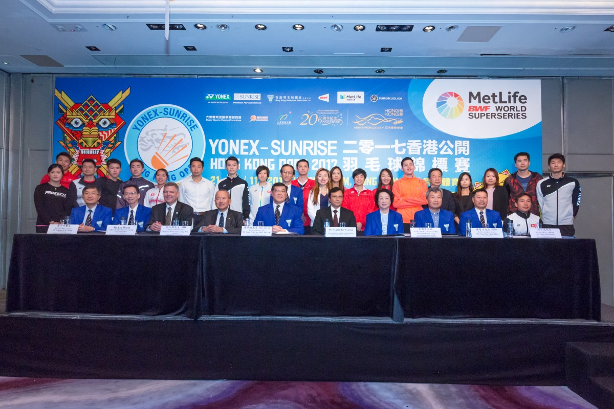 YONEX-SUNRISE Hong Kong Open 2017 part of the MetLife BWF World Superseries - Press Conference